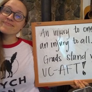 Grads stand with UC-AFT!