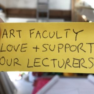 UCSC Art Faculty love and support our lecturers!